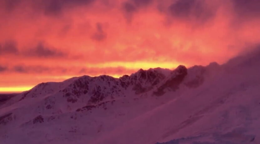 Dzisiejszy ognisty poranek w Tatrach. Co tam się działo! (FILM)