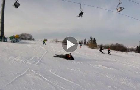 Kolejna groźna sytuacja na stoku narciarskim pod Tatrami (FILM)