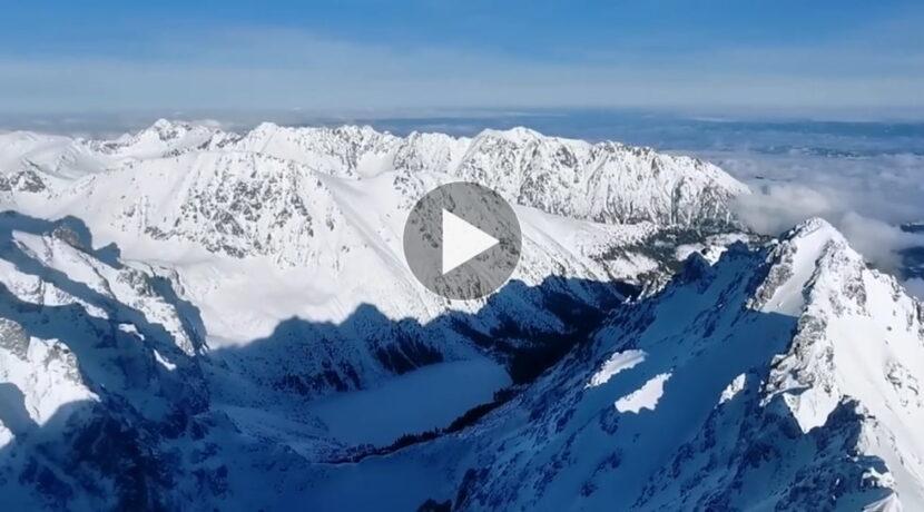 Piękna pogoda w Tatrach. Dzisiejsza panorama z Rysów (FILM)