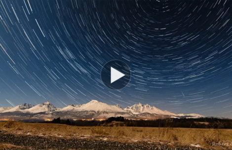 Nocne niebo nad Tatrami. Oto efekt kilku godzin pracy na mrozie (FILM)