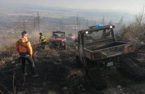 Duży pożar w Tatrach. Płonął las pod Sławkowskim Szczytem