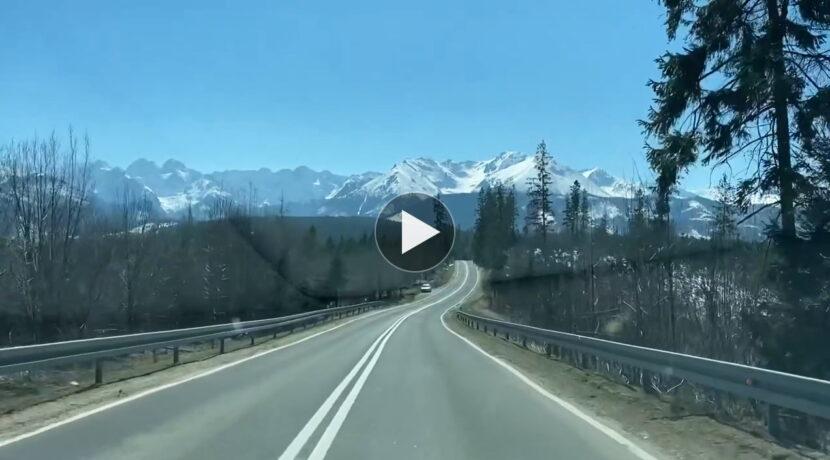 Tak prezentowały się dziś Tatry. Przejazd w kierunku Łysej Polany (FILM)