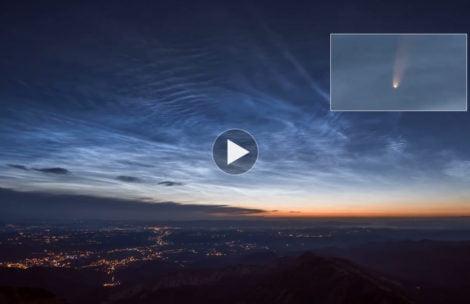 Kometa Neowise, obłoki srebrzyste…działo się! Oto dzisiejsza noc na Kasprowym Wierchu (FILM)