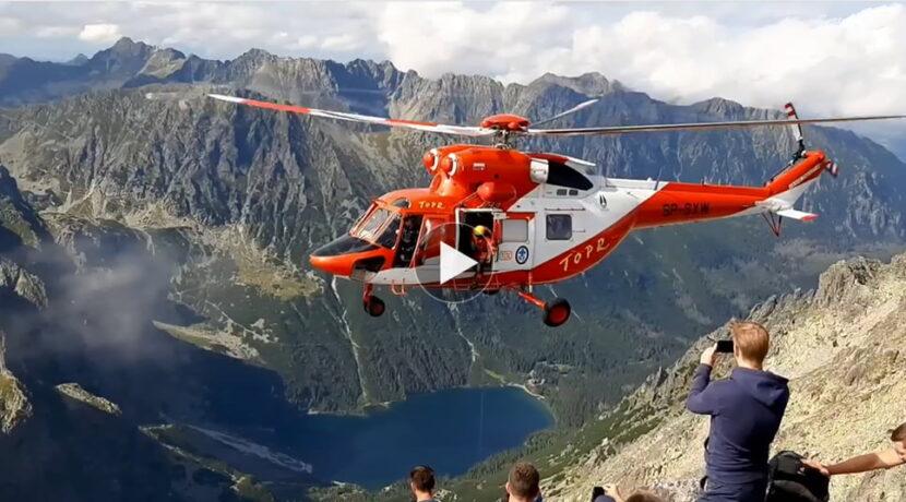 Akcja ratunkowa TOPR tuż pod wierzchołkiem Rysów (FILM)