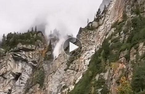 Kiedy wodospad płynie pod górę. Takie cuda podczas halnego w Tatrach (FILM)