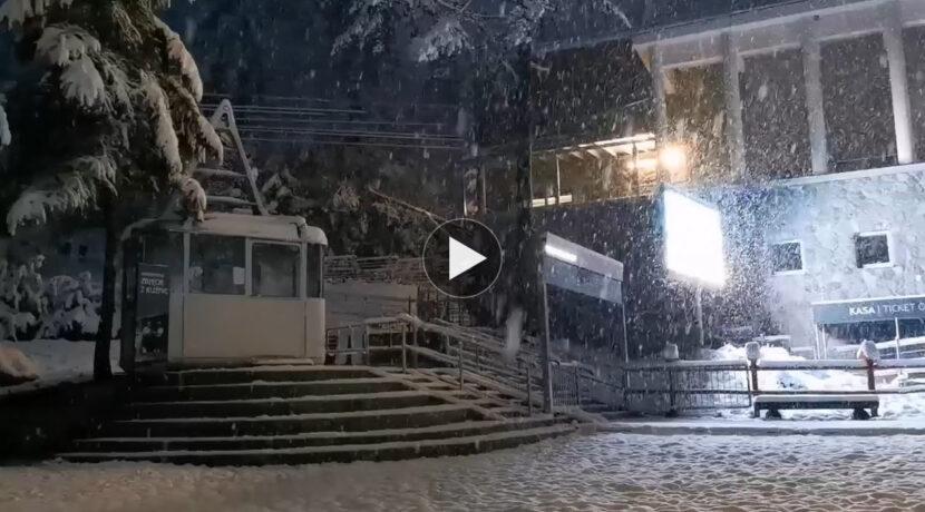 W Zakopanem biało! Dzisiejszy poranek w Kuźnicach (FILM)