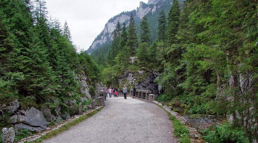 Zamknięty szlak w Dolinie Kościeliskiej