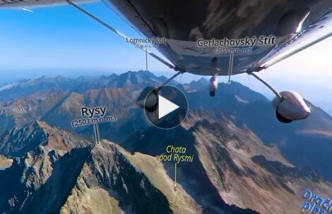 Przelot nad Tatrami Wysokimi i niezwykłe nagranie 360° z podpisanymi miejscami (FILM)