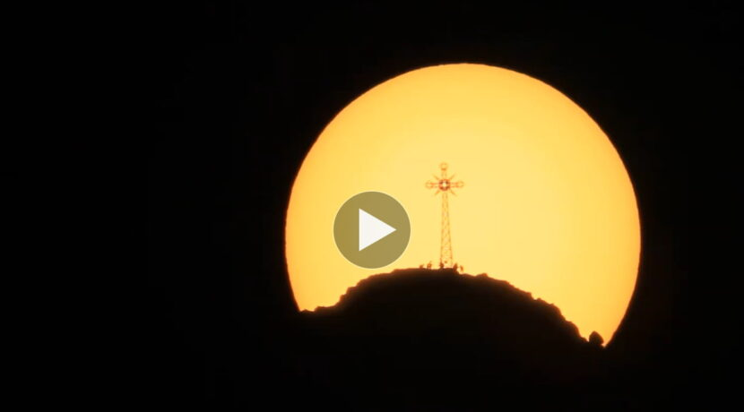 Tranzyt Giewontu na tle Słońca, czyli 3 minuty magii (FILM)