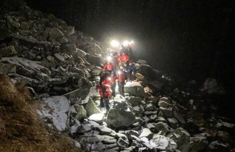Nocna akcja ratunkowa na Rysach