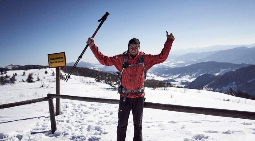 1100 km wędrówki! Łukasz Supergan ukończył zimowe przejście górami Polski