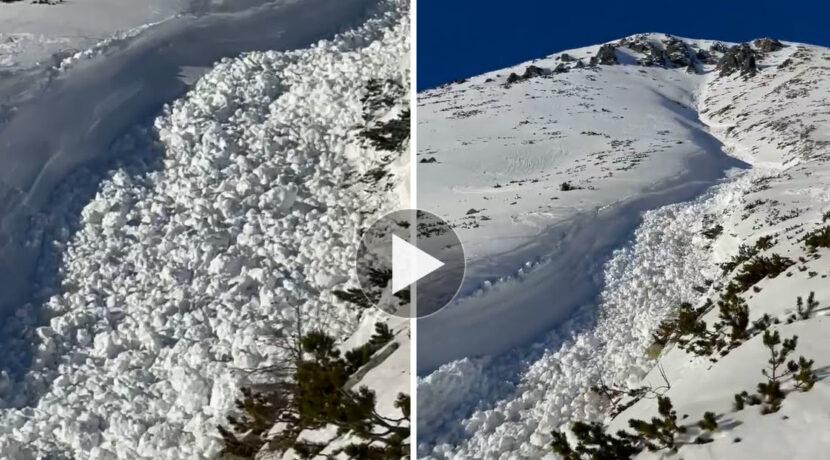 Rzeka śniegu! Potężna lawina zeszła ze Sławkowskiego Szczytu (FILM)