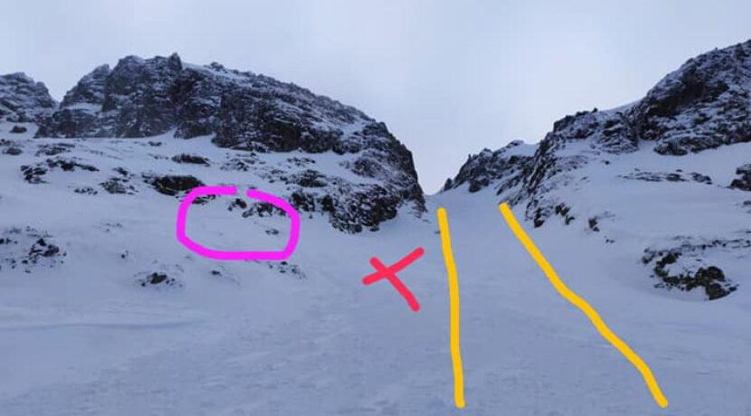 Lawina porwała narciarza pod Wrotami Chałubińskiego. Zadziałał plecak lawinowy (OPIS + ZDJĘCIA)