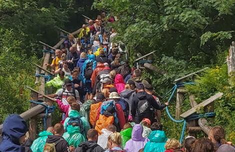 Tłumy na szlaku do Morskiego Oka. Padł rekord wszech czasów