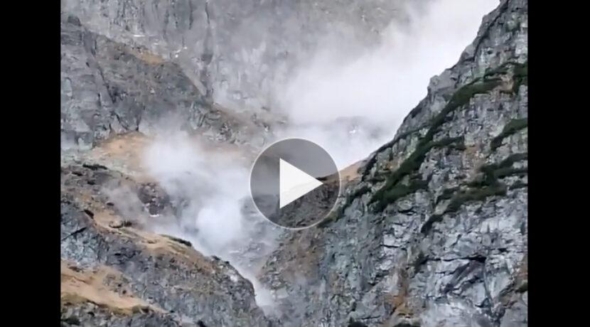 Lawina kamienna w rejonie Morskiego Oka (FILM)